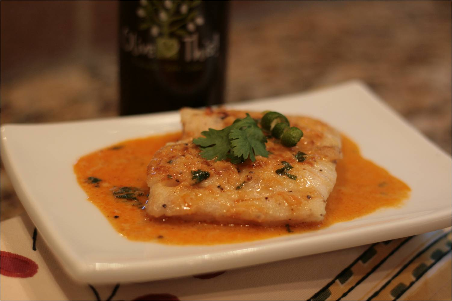 Olive this recipe wild alaskan cod with lime evoo for Sauce for cod fish