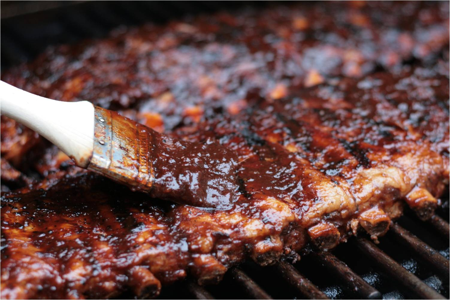 Olive this recipe fall off the bone pork back ribs with maple balsamic chipotle barbecue sauce - Ribs on the grill recipe ...