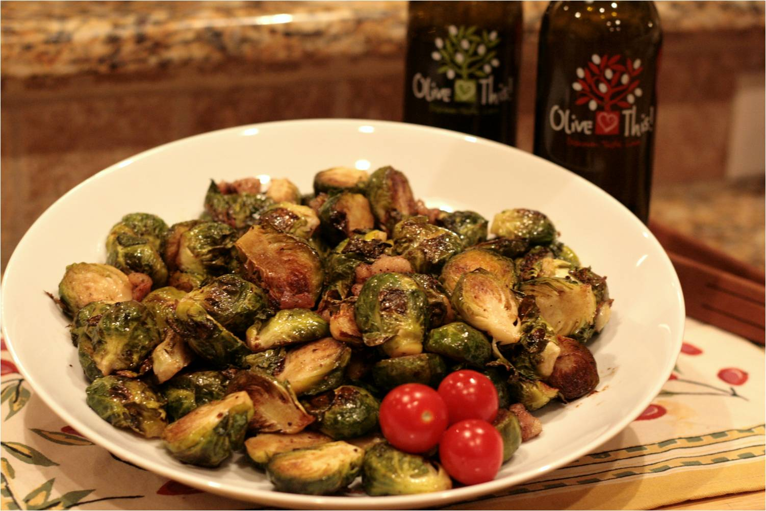 Olive This! – Recipe: Roasted Brussels Sprouts with Pancetta